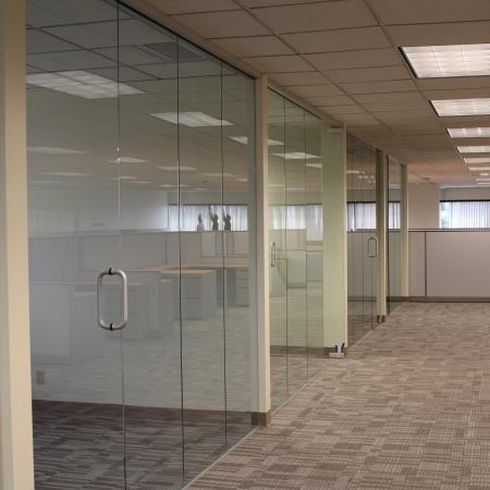 Glass Wall Tacoma Kent Federal Way Tenant Improvement Commercial Offices
